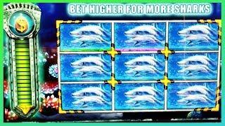 JACKPOT HANDPAY! New Shark Week Slot Machine @San Manuel Casino!!! $3 Bet!