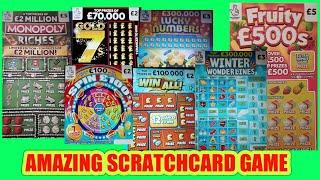 .£250..SCRATCHCARDS...MONOPOLY..FRUITY £500..LUCKY NUMBERS..SPINE £100..TRIVIAL PURSUIT..£100 LOADED