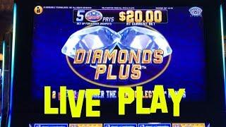 Diamonds Plus live play max bet $4.00 Incredible Technologies Slot Machine