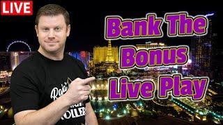 $9,500 Bank The Bonus Live Slots from The Cosmopolitan of Las Vegas