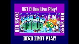 High Limit VGT 9 Line ️ Polar High Roller ️ High Limit Live Play