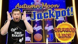 Giant Orb Drops Down In Autumn Moon  Big Dragon Link Jackpot in Las Vegas