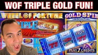 WHEEL OF FORTUNE GOLD SPIN $10 MAX BETS!!!   Dragon & Lightning Link!! ️
