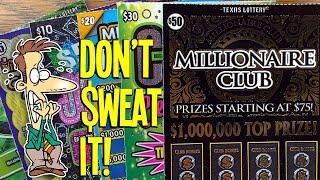 A NAIL-BITER!  $50 Millionaire Club  $150 TEXAS LOTTERY Scratch Offs