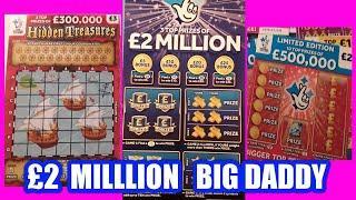 £2 Million..Blue....£5 BIG DADDY....one card wonder...and BONUS Scratchcard..mmmmmmMMM..says