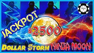 ️HIGH LIMIT Dollar Storm Ninja Moon HANDPAY JACKPOTS $50 SPINS ️(4) BONUS ROUNDS Slot Machine