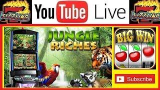 JUNGLE RICHES Slot Machine BONUS FREE GAMES + BIG WINS with SIZZLING SLOT JACKPOTS Casino Videos