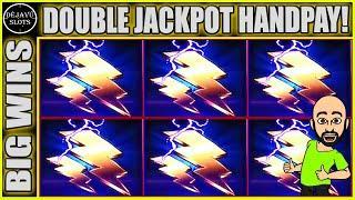 DOUBLE JACKPOT HANDPAY! THUNDER CASH & CLEOPATRA HIGH LIMIT SLOT MACHINE