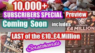 Scratchcards..that are in our 10,000+ Subscribers SPECIAL coming soon...Preview. Wow!
