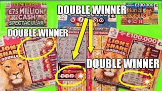 """DOUBLE WINNERS.ALL AROUND..""""CASH SPECTACULAR"""" ..""""CASH 7s DOUBLER""""...""""LION DOUBLER""""...BINGO DOUBLER"""
