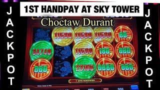1ST HANDPAY AT SKY TOWER CHOCTAW DURANT ** $8.80 MAX BET ENDLESS TREASURE **