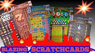 Scratchcards...CASH LINES..CASH BOLT..CASH 7s..RAINBOW BINGO..£250,000 GOLD..CASH MATCH..WIN £50.