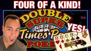 ️ Double Super Times Pay Poker Video Poker .25 denom Triple Double!! ️ ️