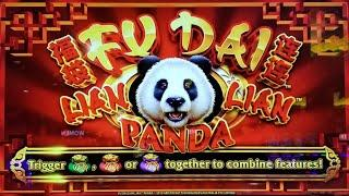 NEW GAME!  TOO MANY BONUSES on FU DAI LIAN LIAN DRAGON & PANDA SLOT POKIE - PECHANGA CASINO