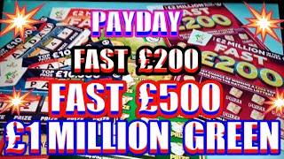 WhooooOOOOOOO Fast £200..Scratchcards.Payday.Fast £500.£1 Million Green mmmmmmMMM