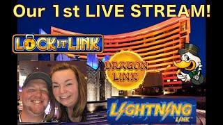 Our 1st Live Stream!! Full screen on Double Mighty Cash!!