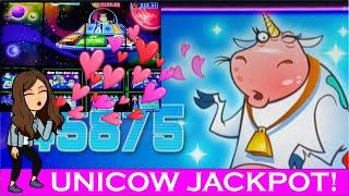 UNICOW JACKPOT - INVADERS ATTACK FROM THE PLANET MOOLAH - Deadwood, SD, HANDPAY!