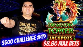 So Many GOOD FORTUNES On Dragon Tower Jackpots Slot ! $500 Challenge To Win At Casino EP-19