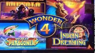 WONDER 4 ~ INDIAN DREAMING ~ Line Hits Save the Day ~ Live Slot Play @ San Manuel