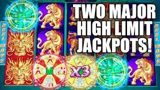 TWO HIGH LIMIT MAJOR JACKPOTS IN A ROW  BIG BETS ON TREE OF WEALTH SLOT MACHINE
