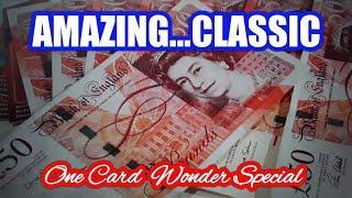 WOW!....What A Fantastic One Card Wonder Scratchcard Classic Special.. mmmmmmMMM