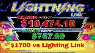 How Far Will Go $1700 on High Limit Lightning Link Happy Lantern Slot Machine   Live Slot Play w/NG