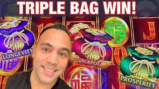 FU DAI LIAN LIAN RARE THREE BAG FEATURE!!!    BUFFALO MAX 60+ FREE GAME WIN!!   EEEEE!