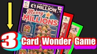 Wow!...its..a..3-Card Wonder Game..YES it's a 3 SCRATCHCARDS.game tonight