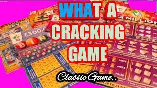 Wow!  scratchcard Cracking Classic Game  Includes BIG DADDY...LUCKY LINES..5x CASH...BINGO
