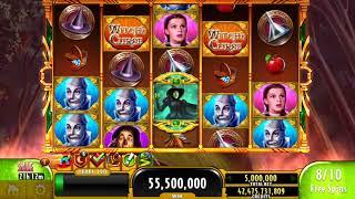 THE WIZARD OF OZ WICKED WITCH'S CURSE Video Slot Casino Game with a RETRIGGERED MEGA WIN BONUS