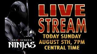 VGT SLOTS - RED SCREEN NINJAS - LIVE STREAM #2 SUNDAY CHAT