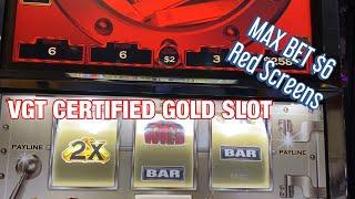 VGT LIVE PLAY ! $6-$10 BET! CERTIFIED GOLD AND LUCKY LEPRECHAUN SLOTS !! SOME NICE RED SCREENS !!!!