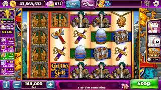 GRIFFIN'S GATE Video Slot Casino Game with a SUPER RESPIN BONUS