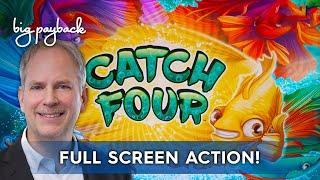 FULL SCREEN ACTION! Catch Four Slot & Phoenix Flare Slot!