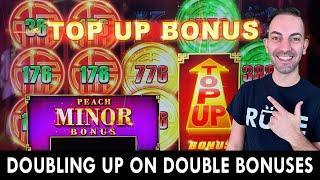 DOUBLING UP on the TOP-UP Bonus  MINOR Progressive Win