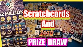 Scratchcards & 2020 Prize Draw Final£2.Million Big Daddy..Merry Millions.Wonderlines.Pot Gold.