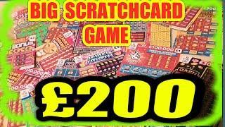 THE BIG £200.00 SCRATCHCARD GAME. CASH SPECTACULAR. CASH 7s.DOUBLER...JEWEL SMASH..