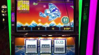 VGT Slots Polar High Roller HANDPAY Rare Bingo Card Pattern Tee & G Flat $10 Max Bet Choctaw Casino