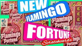NEW FLAMINGO FORTUNE Scratchcard. &.£2.Million Big Daddy..B-Lucky.Multplier.Match 3
