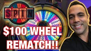 $100 WHEEL OF FORTUNE JACKPOT HANDPAY!!  $10, $25, $30 & $100 bets!!!
