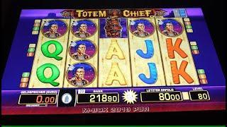 Totem Chief Plus Risikospiel in der Spielhalle! Zocken um den Jackpot auf 80 Cent! Merkur Magie
