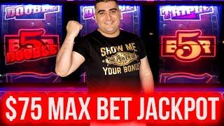 $75 Max Bet HANDPAY JACKPOT On High Limit 3 Reel Slot Machine | Las Vegas Casino | SE-9 | EP-24