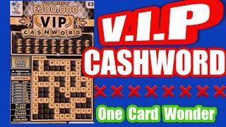 V.I.P..Cashwords...Scratchcard.....  Our Card Wonder Game...mmmmmmMMM