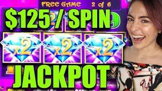 $125/SPIN JACKPOT HANDPAY on HEART THROB Lightning Link in Vegas!
