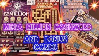 Wow..LK..MEGA £1 MILLION CASHWORDScratchcards..and more Bonus cards...mmmmmmMMM..says