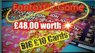 •Wow!•Scratchcard game•3x BIG MOMMIES.£10 cards•Purple Million•20x CASH•LUCKY LINES.. (classic)