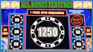 LIGHTNING LINK HIGH STAKES SLOT MACHINE 4 COIN TRIGGER ALL BONUS FEATURES GREAT SESSION