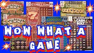 Scratchcard EXCITING  Game..Cash 7s..Cash Lines.Scrabble..Cash Bolt.INSTANT £100.& More