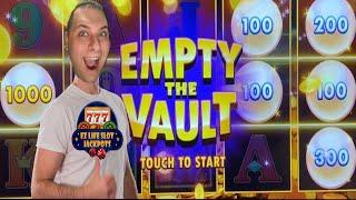 EMPTY The VAULT  Bonus Frenzy  Slot Machines with EZ Life Slot Jackpots