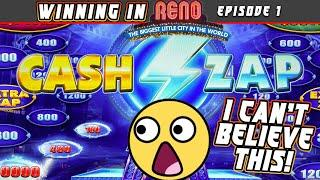 NEW AGS SLOT IMPROVES LIGHTNING ZAP WITH CASH ZAP!  HUGE WINS WITH A BIG ZAP!
